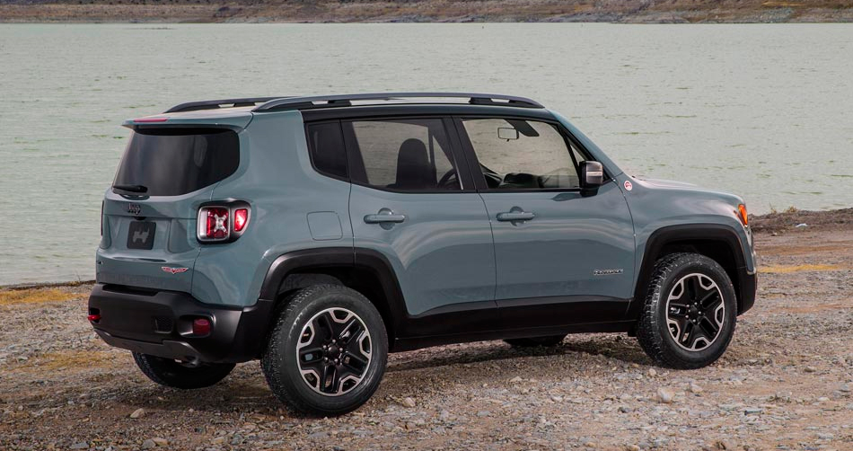 Jeep Renegade on the road